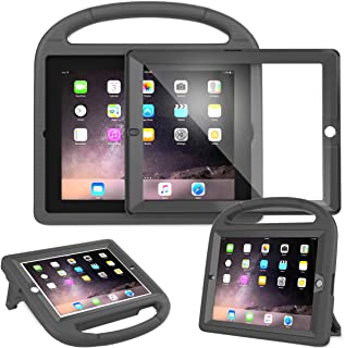 AVAWO Kids Case Built-in Screen Protector for iPad 2 3 4 (Old Model)- Shockproof Handle Stand Kids Friendly Compatible with iPad 2nd 3rd 4th Generation (Black)