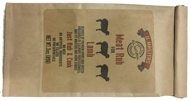 Under blast sales JL Masters All Natural Meat Rub packages 3oz three 3 LAMB- store -