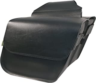 Dowco Willie & Max 58801-00 Raptor Series: Synthetic Leather Compact Slant Motorcycle Saddlebag Set, Black, Universal Fit,...