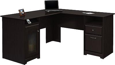 Bush Furniture Cabot L Shaped Computer Desk in Espresso Oak