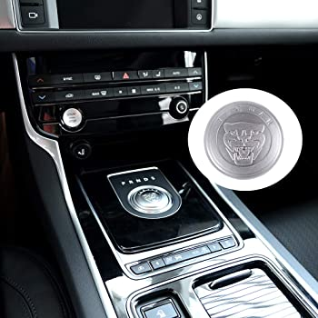 Silver, Fit for Jaguar NIUHURU Car Interior Trim Bling Accessories Gear Shift Knob Crystal Decals fit for Land Rover Range Rover Evoque Jaguar XJ XE XF F-Type F-PACE I-PACE E-PACE Accessories
