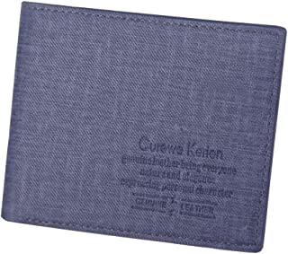 PURETINN Men RFID Blocking Leather Wallet Minimalist Bifold Slim Mini Credit Card Purse