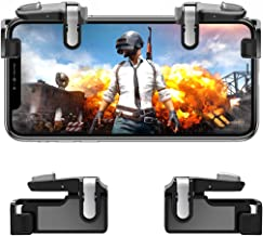 Mobile Game Controller【Upgraded Version】- PUBG/Knives Out Mobile Controller,Hill & Wood Sensitive Shoot and Aim Triggers for L1R1 Mobile Game Trigger Joystick for Android/iOS.