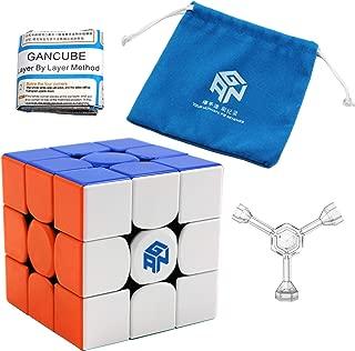 Moruska Gan 356 R Stickerless Cube 3X3 Gan 356R Speed Cube 3X3X3 Gan356 R Magic Cube with Original Portable Pouch