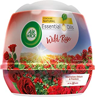 Air Wick Natural Oil Scented Gel, Wild Rose, 180 g