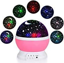TMANGO Moon Star Projector Light, 9 Light Colors Conversion with 360 Degree Rotation, Room Decoration Night Lighting Child...
