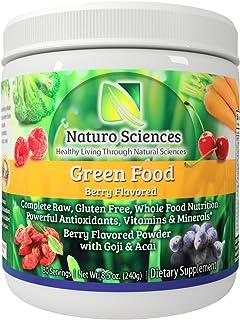 Raw Green Powder Superfood - 1g Natural Sugar Per Serving, 30 Day Supply - Antioxidant Supplement, Digestive Enzymes, Prebiotics & Probiotics, Fiber, Spirulina Powder - Greens Supplement Powder