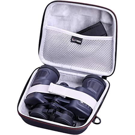 Comfortable Rubber Travel Handle and Accessory Bag CASEMATIX Protective Binoculars Case with Impact-Absorbing Foam Interior Case Only Hard Shell Binocular Case with Reinforced Zippers