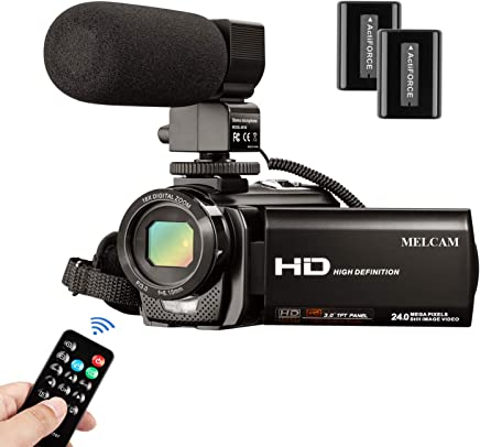 Video Camera Camcorder MELCAM 1080P 30FPS 24MP 3.0 Inch...
