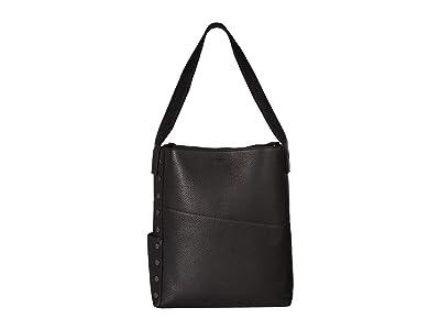 Hammitt Christian (Black/Black Nylon/Black Cotton/Gunmetal) Handbags