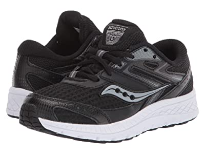 Saucony Kids S-Cohesion 13 LTT (Little Kid/Big Kid) (Black Leather/Mesh) Boys Shoes