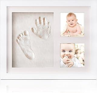 手形 赤ちゃん TASIPA 、ベビーフレーム 手形 足形 フォトフレーム 、安全粘土 手形足形キット 出産祝い 内祝い ベビー記念品 置き掛け兼用