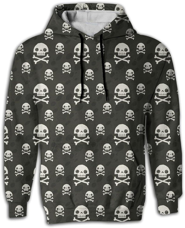 Pirate Cartoon Skull Flag Party Cheap Big Pockets Casual Clothing Sports Hoodies