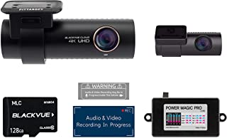 BlackVue DR900S-2CH with 128GB Micro SD Card with Power Magic Pro Hardwiring Kit Included | WiFi GPS 4K Recording with Mot...