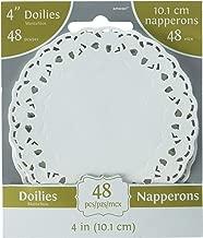 Amscan White Round Doilies Supply