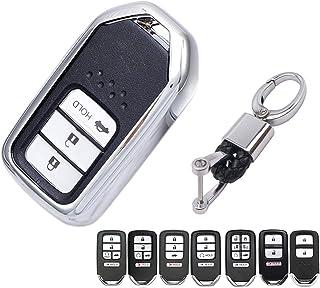 حافظة حماية جلدية للمفاتيح من البولي يوريثان اللدن بالحرارة مناسبة لهاتف 2020 2019 2018 2017 2016 2015 Honda Accord Civic ...
