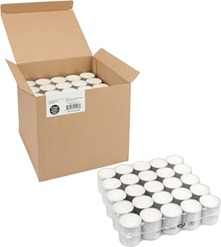 Stonebriar Long Burning 8 Hour Unscented Tea Light Candles, 200 pack, White
