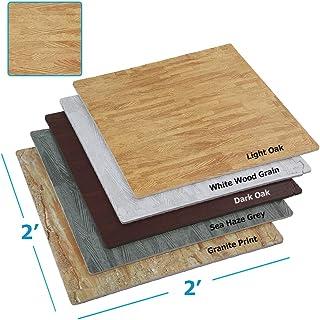 "Clevr 100 sq ft. Interlocking EVA Foam Floor Mat Tiles (24"" x 24"") 25 pcs |.."