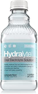Hydralyte Oral Electrolyte Solution, Ready to Drink Clinical Hydration Formula, Color Free Lemonade, 33.8 Oz
