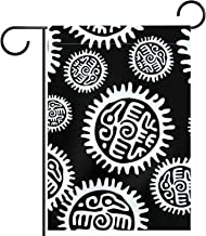 Tuinvlag, Aztec Mayan Zonvormige cirkel, Seizoensgebonden Outdoor Vlaggen 28 x 40 Dubbelzijdige Home Yard Decoratieve