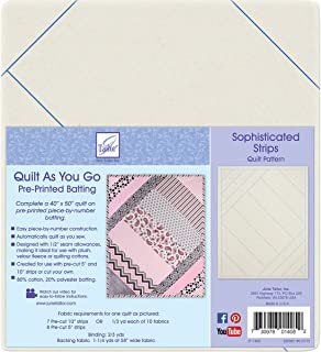 June Tailor Quilt As You Go Printed Quilt Blocks On Batting-Sophisticated Strips