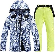 Men Ski Suits Winter Jacket Cold Protection Keep Warm Mountaineering Suit Veneer Biplane Ski Jacket Pants