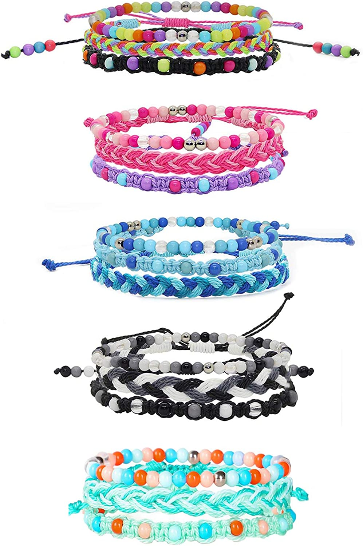 15 pcs Friendship Bracelets for Bra Beaded Adjustable Kids service Wholesale Cute