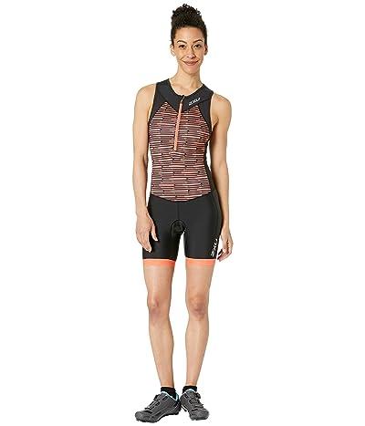 2XU Active Trisuit (Black/Sherbert Line Print) Women