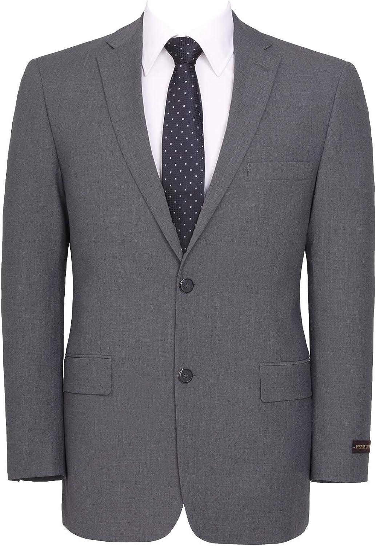 Men's Classic Fit Wool Blend Sport Coat Blazer Premium Business Wedding Suit Jacket