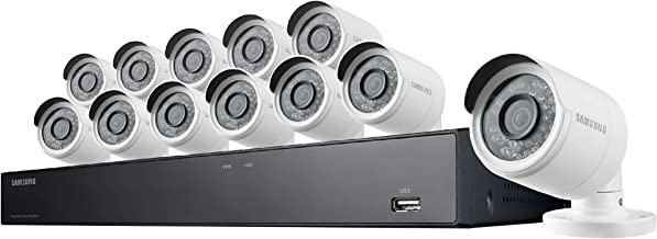 Samsung Wisenet SNK-D85121BF 16 Channel 4MP Super HD PoE NVR Video Security System with 3TB Hard Drive and 12 4MP Weather Resistant Bullet Cameras (SNC-4241BE) (Renewed)