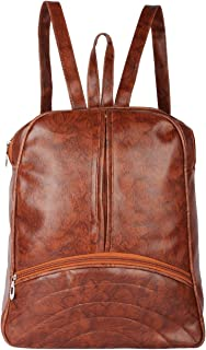 TYPIFY® Artificial Leather Women's Backpack Unique Design College Office School Casual Bag for Women and Girls - Storage o...