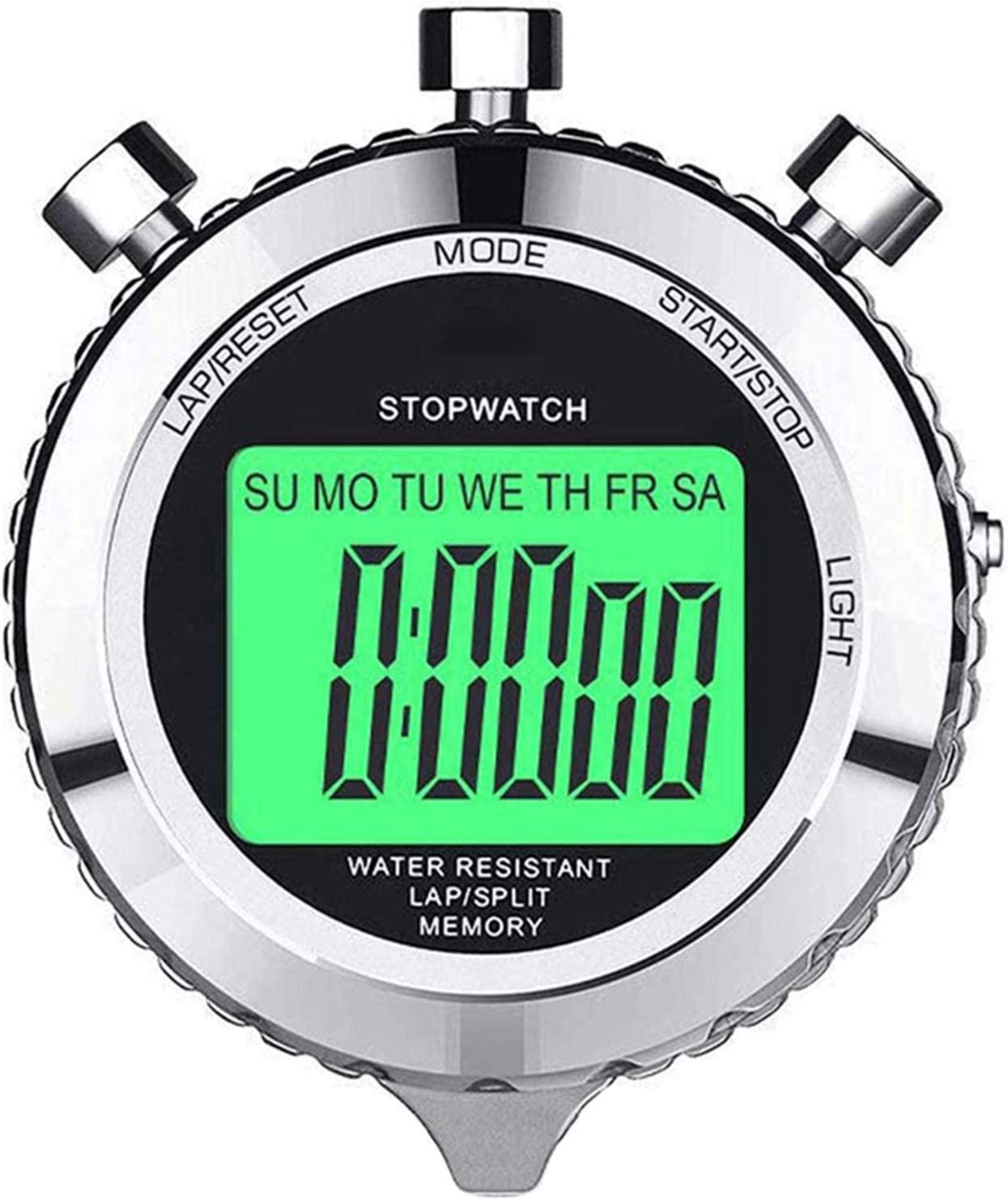 LYY Digital Stopwatch Timer Metal Watch with Stop Year-end annual account Sto Tampa Mall Backlight
