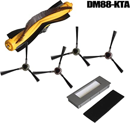 IDS Home Replacement Vacuum Cleaner Brush Filter HEPA for Ecovacs Robotics DM88-KTA Deebot M87