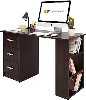 comprar comparacion COMIFORT Mesa de Trabajo – Escritorio Robusto y Espacioso, Estilo Moderno y Minimalista, con Gran Capacidad de Almacenaje,...