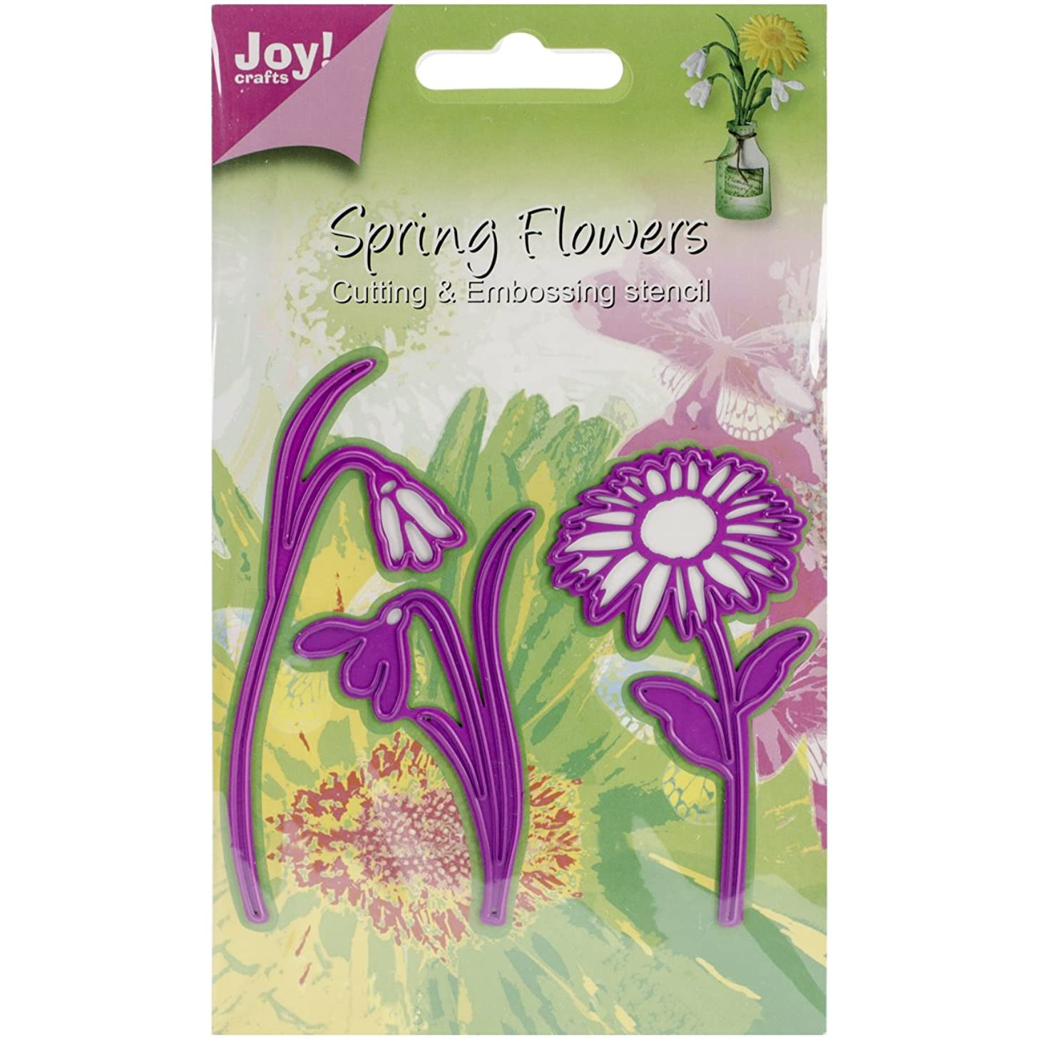 Joy! Crafts Cutting and Embossing Die, 3 Flowers Marguerite/2x Snowdrop