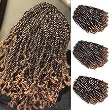 Leeons 3 Packs Nubian Twist Hair Bomb Twist Hair Passion Twist Hair Ombre Color Crochet Braids Spring Twist Hair Extensions 8 Inch (#T1B/27)