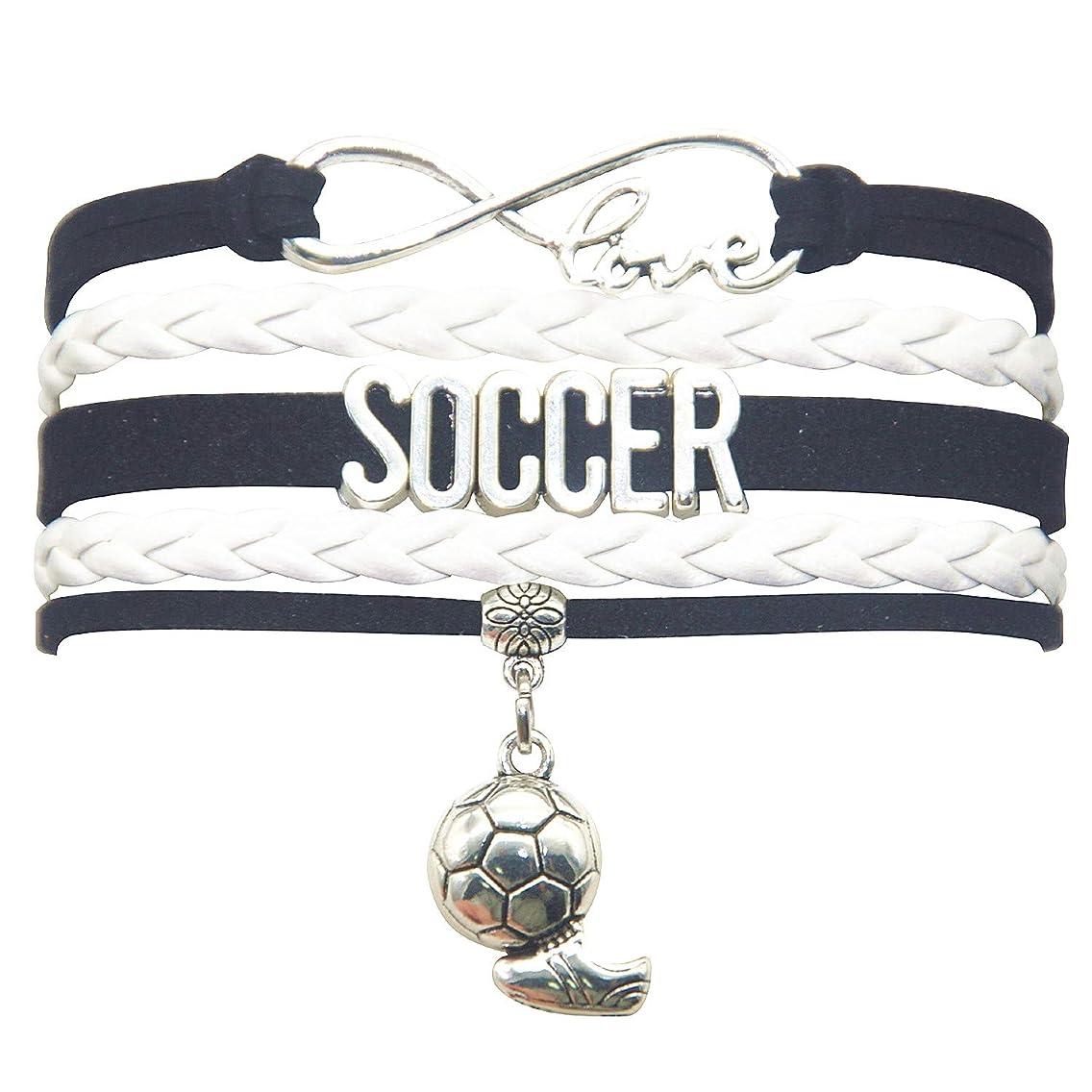 HHHbeauty Infinity Soccer Bracelet Jewelry Cute Soccer Ball Charm Bracelet Soccer Gifts for Women, Girls, Men, Boys, Soccer Lovers, Soccer Team Soccer Themed Gifts