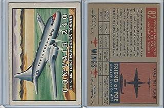 1952 Topps, Wings, 82 Convair 240 US Air Force