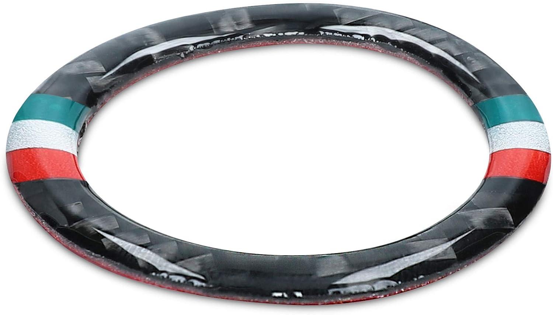 Kwmobile Ringrahmen Für Start Stopp Knopf Kompatibel Mit Bmw 3er Serie E90 E91 E92 E93 Flexibler Und Dekorativer Carbon Ring Auto