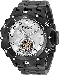 Invicta Men's Reserve Venom Mechanical Hand Wind Watch with Stainless Steel Strap, Black, 31 (Model: 32563)