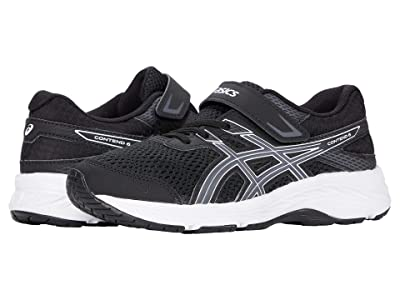 ASICS Kids GEL-Contend 6 (Toddler/Little Kid) (Black/Carrier Grey) Boys Shoes