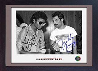 S&E DESING Freddie Mercury Queen Michael Jackson Signed Photo Print Autograph Music Framed