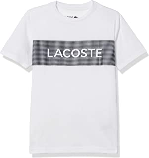 Lacoste Boys' Sport Branded Graphic Jersey Tech T-Shirt