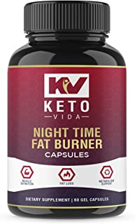 Night Time Weight Loss Fat Burner Supplement Pills and Appetite Suppressant for Men and Women - Sleep Aid - White Kidney Bean Extract, Green Coffee Bean Extract, L-Theanine, L-Tryptophan, Melatonin