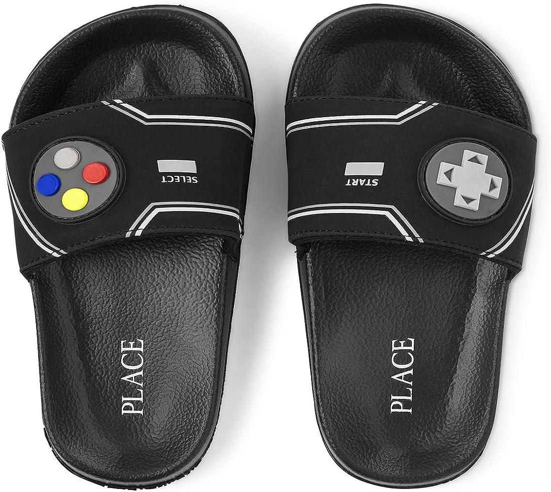 The Children's Place Unisex-Child Gamer Slides Slipper