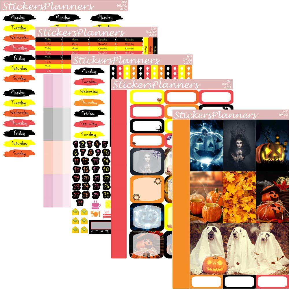Permanent Ranking TOP4 October Halloween Fall Planner Layout Sales Stickers Weekly