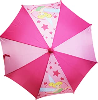 Disney's Tinker Bell Twinkling Stars and Alternating Pink Shades Kids Umbrella