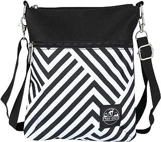 Stripe Small Crossbody Bags Messenger Bag Handbag for Women Lady Girls (Messenger Bag)