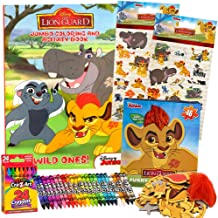 ColorBoxCrate Lion King Coloring Book Toy Set 4 Pack Includes Lion Guard Coloring Book Activity Book, 37 pc Sticker Sheets, Crayons, and Lion Guard Puzzle for Children Ages 3 to 8