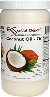 Coconut Oil - 1 Quart - 32 oz - Food Grade - safety sealed HDPE container with resealable cap